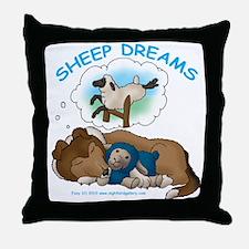 Sheep Dreams Throw Pillow