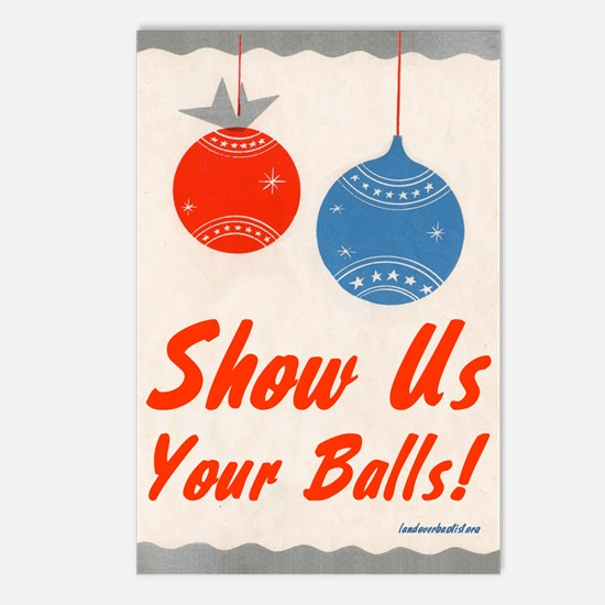 Show Us Your Balls! Postcards (Package of 8)