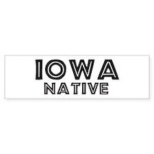 Iowa Native Bumper Bumper Sticker