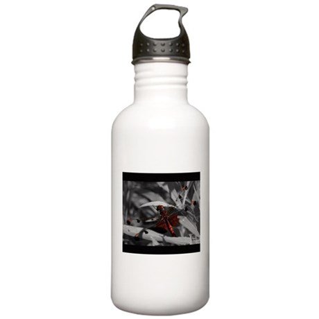Gorgeous Red Dragonfly Stainless Water Bottle 1.0L