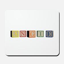 Angie Alphabet Block Mousepad