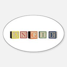 Angie Alphabet Block Sticker (Oval)