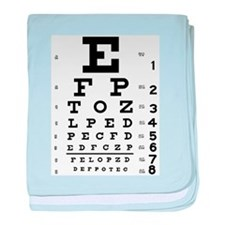 Eye Test baby blanket