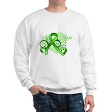 Lymphoma Hope Heart Sweatshirt