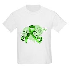 Lymphoma Hope Heart T-Shirt