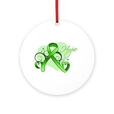 Lymphoma Hope Heart Ornament (Round)