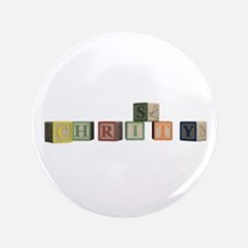 """Christy Alphabet Block 3.5"""" Button (100 pack)"""