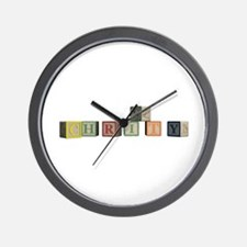 Christy Alphabet Block Wall Clock