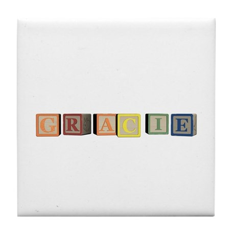 Gracie Alphabet Block Tile Coaster