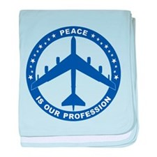 B-52G Peace Sign baby blanket