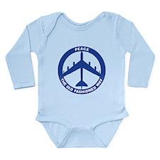 B-52G Peace Sign Long Sleeve Infant Bodysuit