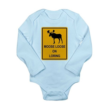 Moose Loose Long Sleeve Infant Bodysuit