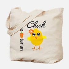 Vegetarian Chick Tote Bag