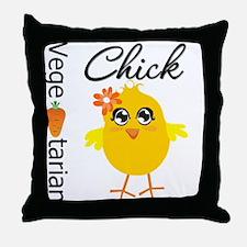 Vegetarian Chick Throw Pillow