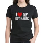 I Love My Mechanic Women's Dark T-Shirt