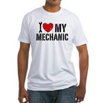 I Love My Mechanic Fitted T-Shirt