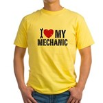 I Love My Mechanic Yellow T-Shirt