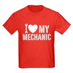 I Love My Mechanic Kids Dark T-Shirt