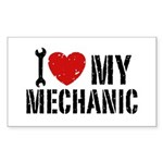I Love My Mechanic Sticker (Rectangle)