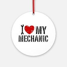 I Love My Mechanic Ornament (Round)