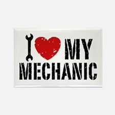 I Love My Mechanic Rectangle Magnet