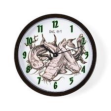 T's N Crackers Catfish Wall Clock