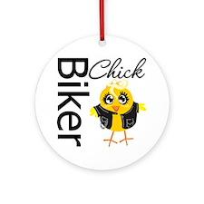 Biker Chick Ornament (Round)