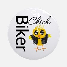 Biker Chick Ornament (Round)