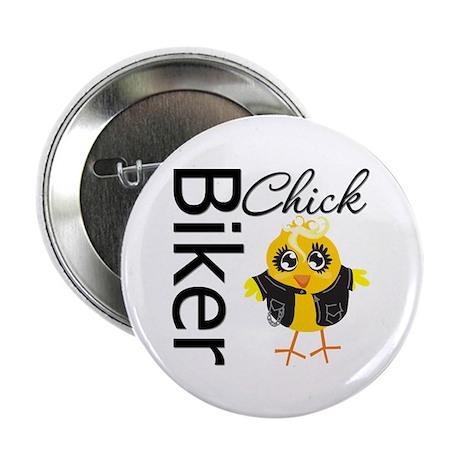"""Biker Chick 2.25"""" Button (10 pack)"""