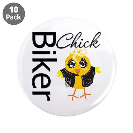 """Biker Chick 3.5"""" Button (10 pack)"""