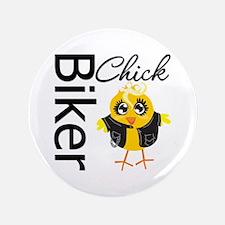 """Biker Chick 3.5"""" Button (100 pack)"""