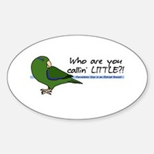 Parrotlet Little Oval Decal