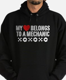 My Heart Belongs to a Mechanic Hoodie (dark)