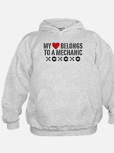 My Heart Belongs to a Mechanic Hoodie