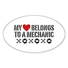 My Heart Belongs to a Mechanic Decal