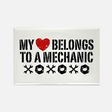 My Heart Belongs to a Mechanic Rectangle Magnet