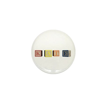 Kate Alphabet Block Mini Button (100 pack)