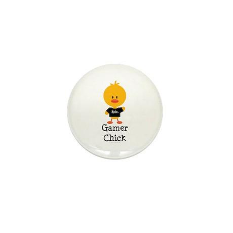 Gamer Chick Mini Button (10 pack)
