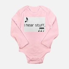 Funny Band director Long Sleeve Infant Bodysuit