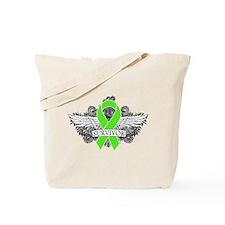 Lymphoma Survivor Wings Tote Bag
