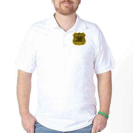 Geologist Caffeine Addiction Golf Shirt