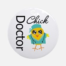 Doctor Chick Ornament (Round)