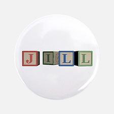 """Jill Alphabet Block 3.5"""" Button (100 pack)"""