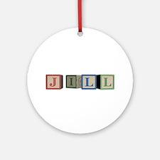 Jill Alphabet Block Ornament (Round)
