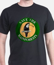 Save Rainforests Black T-Shirt