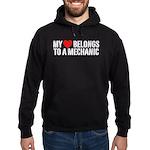 My Heart Belongs To A Mechanic Hoodie (dark)