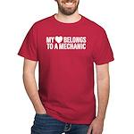 My Heart Belongs To A Mechanic Dark T-Shirt