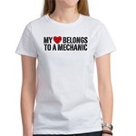 My Heart Belongs To A Mechanic Women's T-Shirt