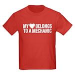 My Heart Belongs To A Mechanic Kids Dark T-Shirt