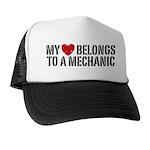 My Heart Belongs To A Mechanic Trucker Hat